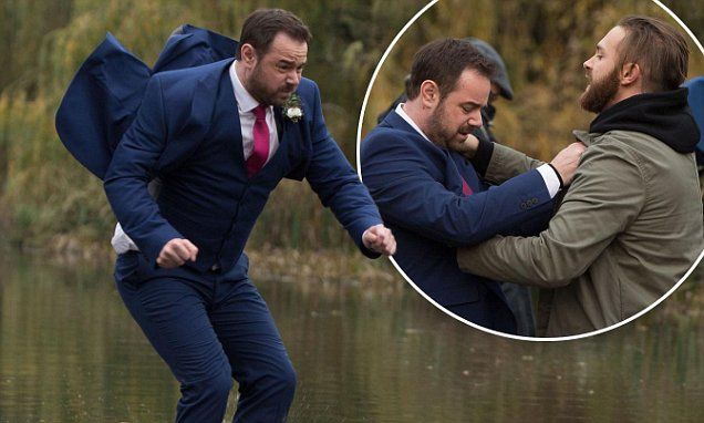 Eastenders' Mick Carter battles with Dean Wicks in New Year special