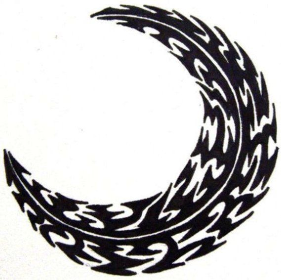 30 best Tribal Crescent Moon Tattoo images on Pinterest ...