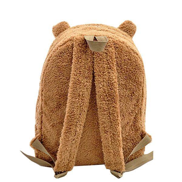 Women Panda Shape Plush Backpack