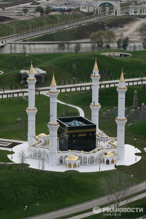 A mosque in a new Government Complex in Grozny, Chechnya