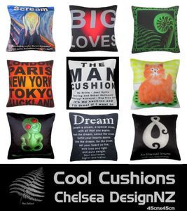#throw pillows. Cool Cushions and Covers from Chelsea Design NZ.  For Wholesale Cushions and Trade enquiries please register on our website.