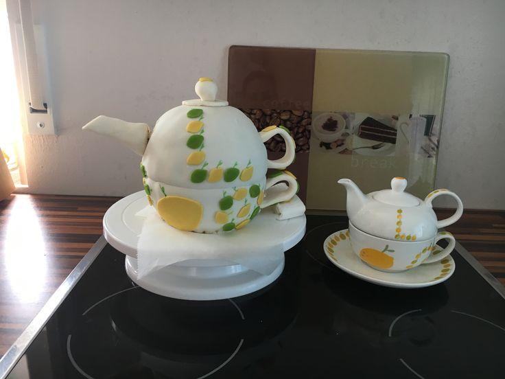 Motivtorte Teekanne