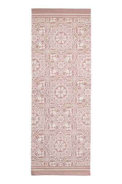 Patterned Cotton Rug Dusky Pink Home All H M Gb 2