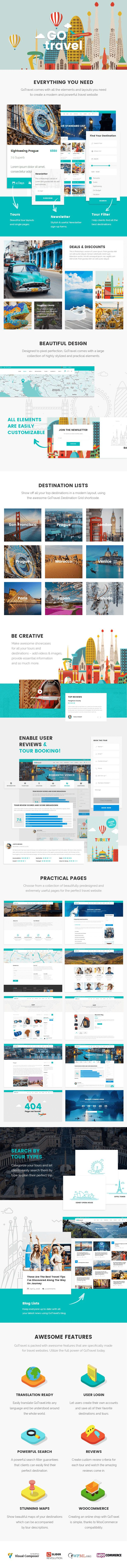 GoTravel - A Travel Agency & Tourism Theme #responsive #search #tours • Download ➝ https://themeforest.net/item/gotravel-a-travel-agency-tourism-theme/18939921?ref=pxcr