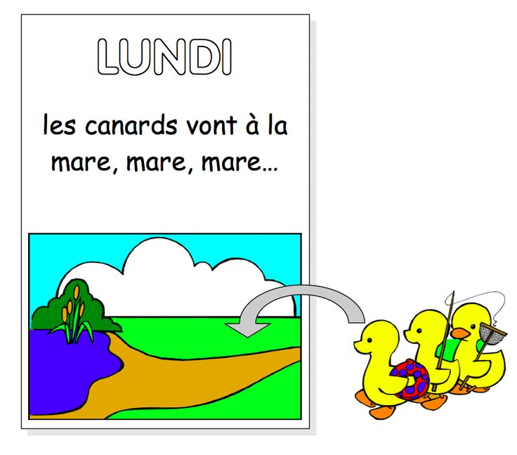 La semaine des canards (the week of the ducks). Teach the days of the week in French with this fun song and accompanying flashcards.