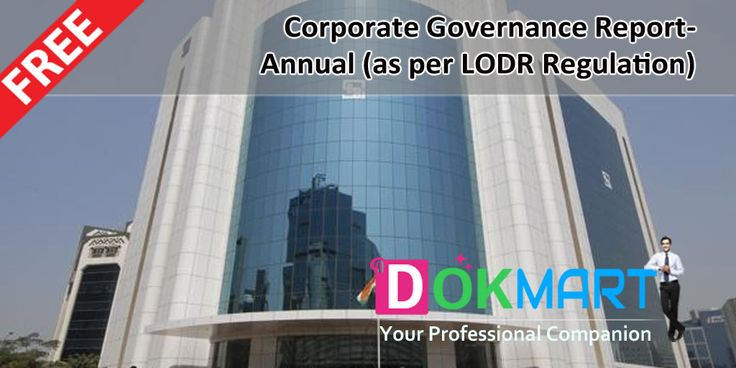 This document contains format of Corporate Governance Report- Annual as per SEBI (LODR) Regulation in MS Excel format making it handy for use.