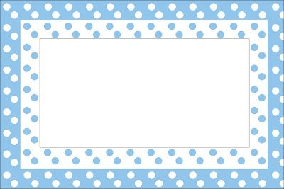 Poá Azul e Branco – Kit Completo com molduras para convites, rótulos para guloseimas, lembrancinhas e imagens! |Fazendo a Nossa Festa