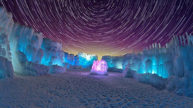 Stunning Ice Castles Made of Thousands of Icicles in Breckenridge CO