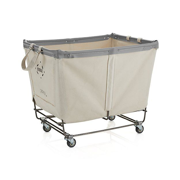 steele rolling laundry basket crate and barrel