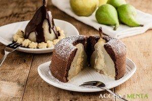 pera pera e cioccolato bella elena torta compleanno pan di spagna cacao crema pasticcera dolci autunnali frutta