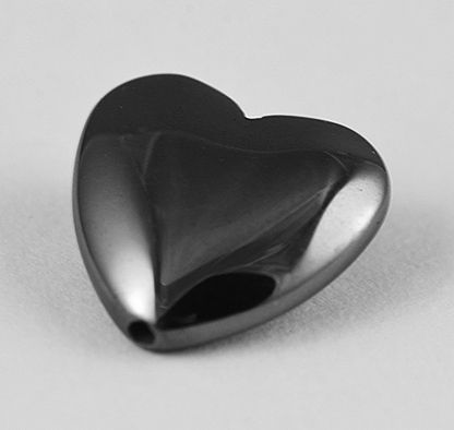 These Love heart shape Hematite beads are ideal for all kinds of bracelets, necklaces and jewellery making projects.