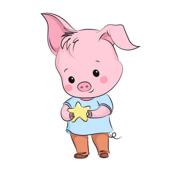 Рисунок для детей год свиньи