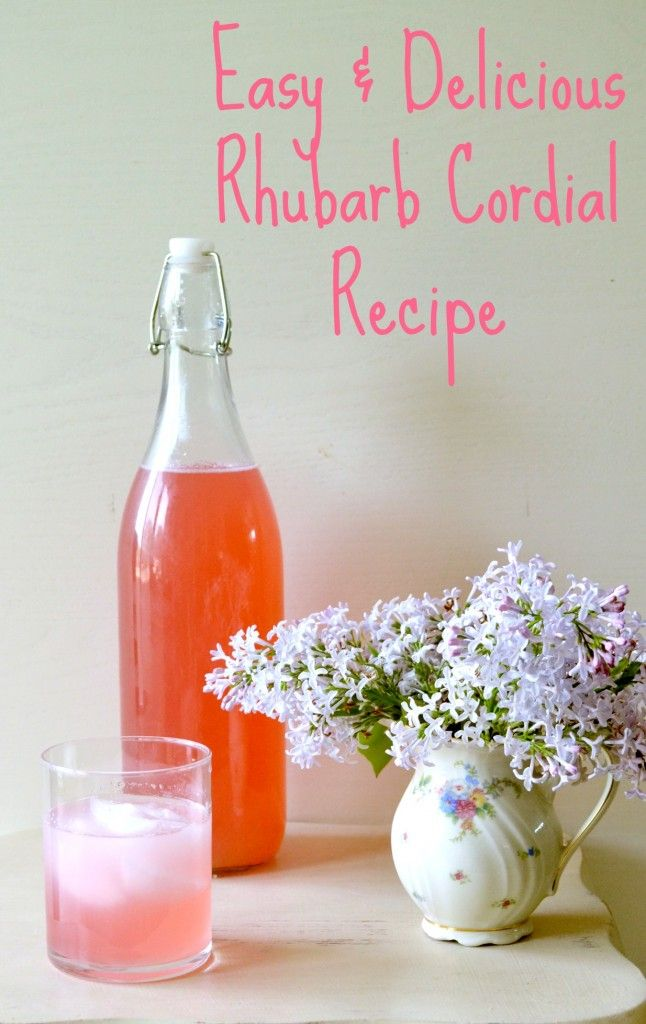 Easy & Delicious Rhubarb Cordial