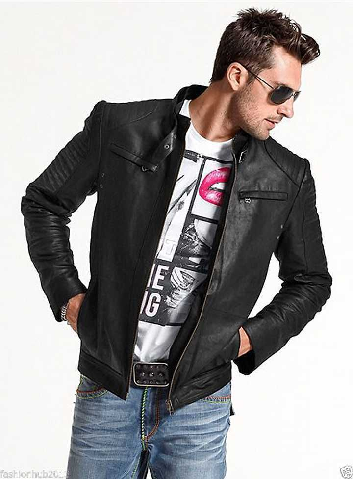 Men,s Leather Jacket Lambskin Real Motorcycle  Stylish Black Leather Jacket  167 #WeddingSeason #Motorcycle
