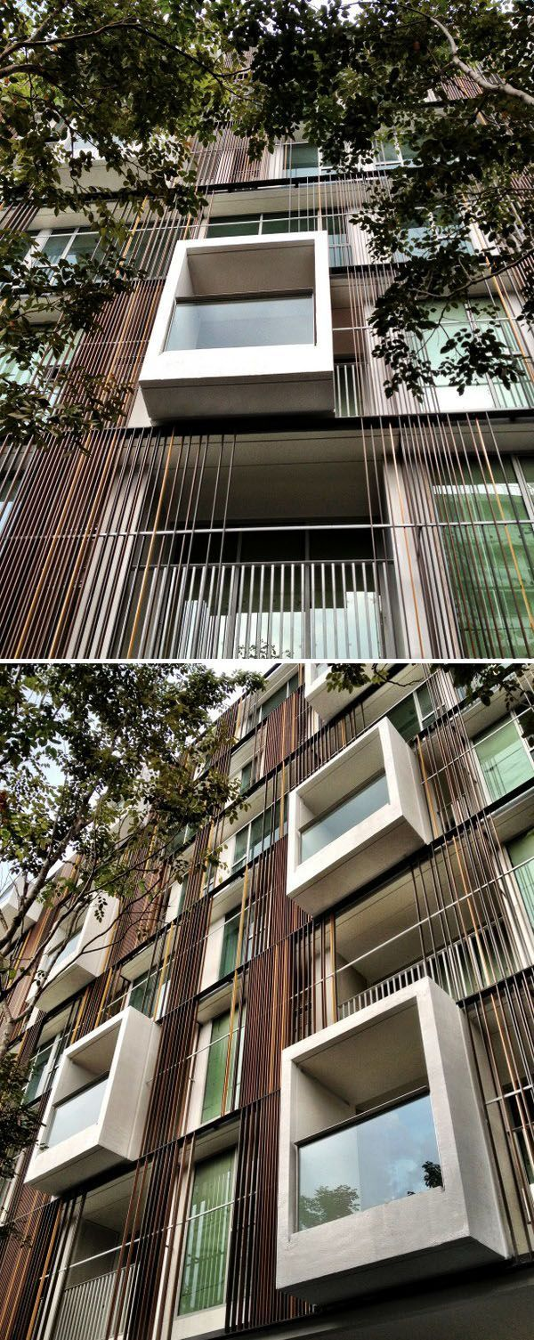 Balcony design ideas in apartment grenoble france home design and - Idee Voor Gevel Via 31 Condominium_facade By Somdoon Architects