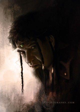 Leodagan (Lionel Astier), digital painting par Rozenn