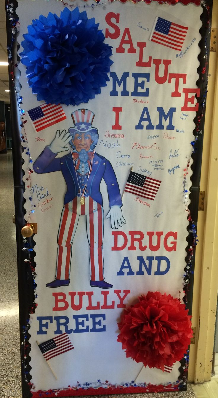 27 best red ribbon week door decorations images on pinterest red salute me i am drug and bully free red ribbon door decorations vtopaller Choice Image