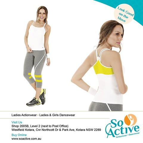 Light Pants with Mesh Panels combined with mesh panel top - the perfect workout attire to look good on the move - In store NOW at So Active!