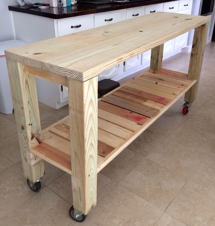 DIY Moveable Kitchen Island!