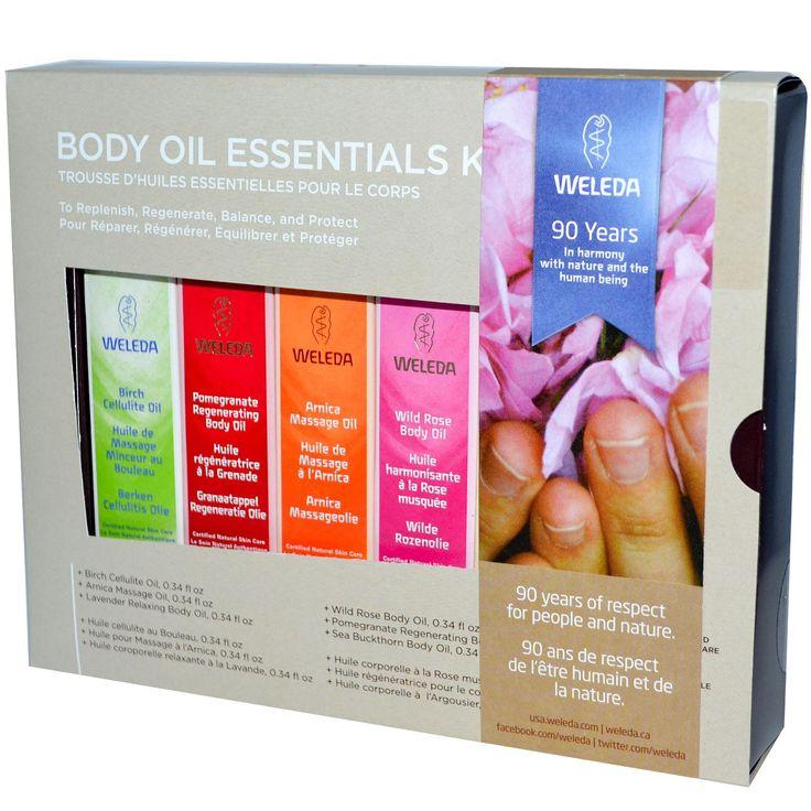 Weleda, Body Oils, Essential Kit, 6 Oils, (0.34 fl oz Each) - iHerb.com