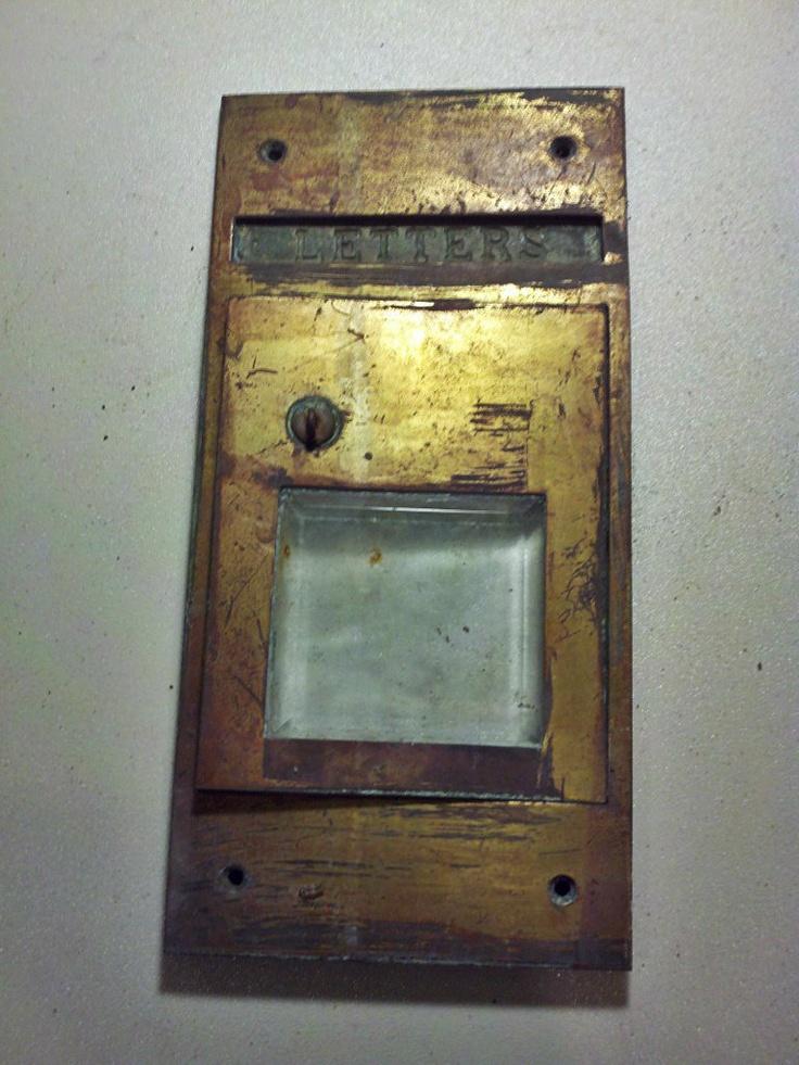 Vintage Post Office Mail Box Door