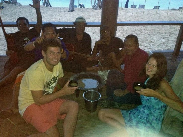 New years with the locals, Octopus Resort, Fiji.