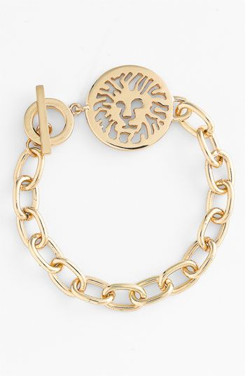 Strength. I need this as a constant reminder. AK Anne Klein Lion Detail Toggle Bracelet | Nordstrom