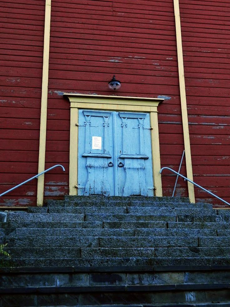 The church door. Lehtimäki Finland.