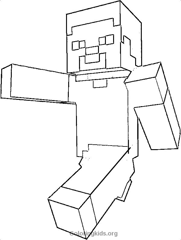 Steve Minecraft Minecraft Coloring Pages Minecraft