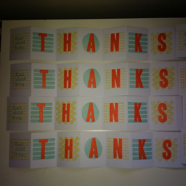Accordion Fold Thank You Cards by #SocialStampers