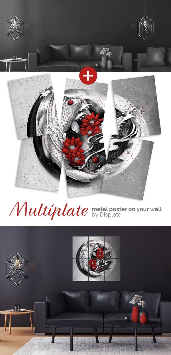 A touch of Japan in your interior? Original large size metal poster created by a French illustrator, Marine Loup. Give your home an oriental look! Click through to see more similar artworks! #multiplate