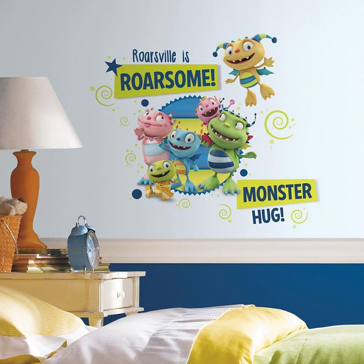 Henry Hugglemonster Family Giant Wall Decal, Multicolor