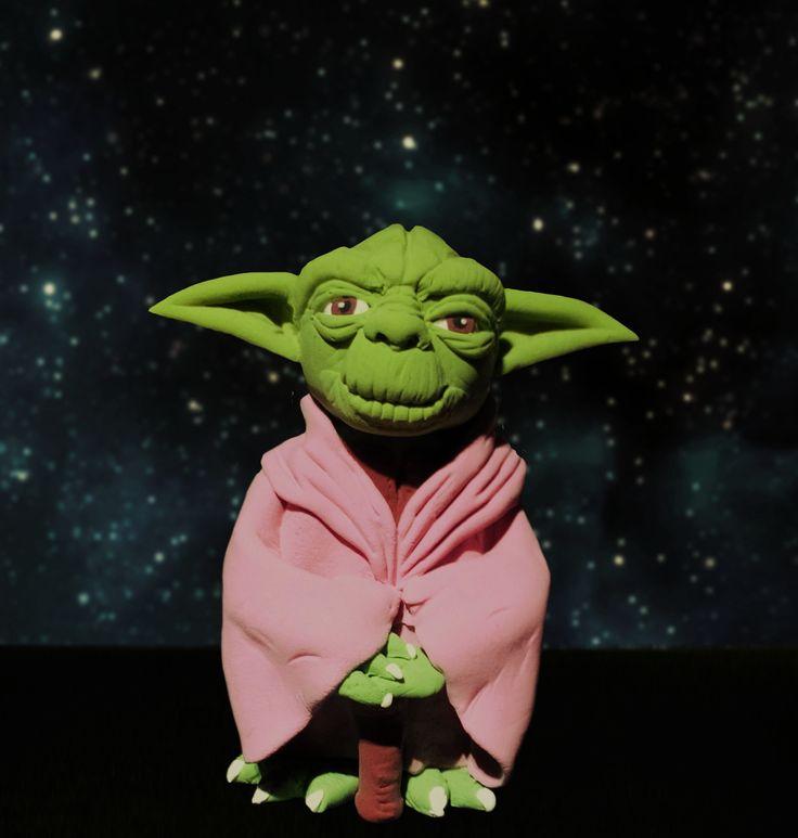 Sa modelam: Figurina pentru tort handmade. Master Yoda, Star wars