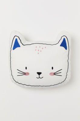 Katzenförmiges Kissen