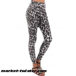 Skinny Animal Print Harem Trousers