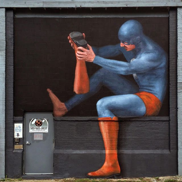 Swedish artist Andreas Englund is currently in Rochester, USA for the Wall Therapy Street Art Festival.
