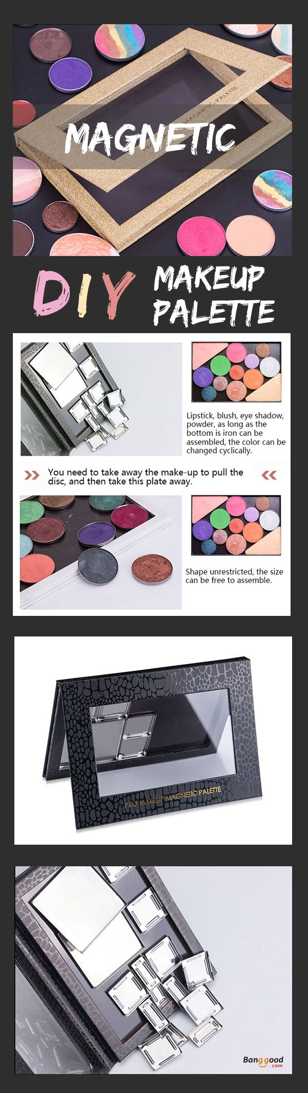 US$17.99+Free shipping. DIY Makeup Palette, Empty Eyeshadow Palette,  Magnetic, Easy to carry.  Eyeshadow, Lip Gross, Powder, Convenient for you. Shop now!