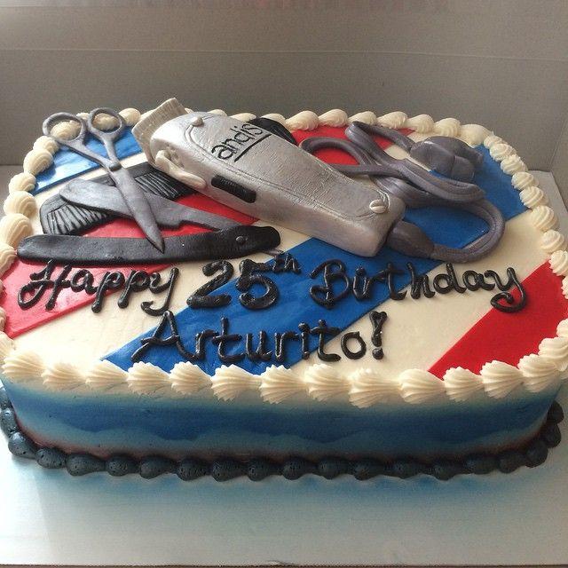 barber pole birthday cake