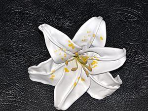 """Делаем цветок лилии """"Белая королева"""" из кожи. 1 часть - Ярмарка Мастеров - ручная работа, handmade"""