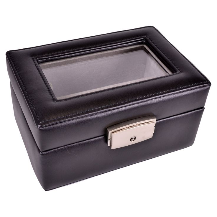 Royce Leather Watch Box and Jewelry Storage Case - 964-BLACK-6