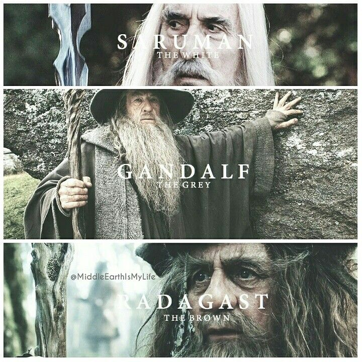 The White, The Grey, The Brown. Saruman, Gandalf, Radagast ❤ #middleearth #wizards #lordoftherings #lotr #thehobbit #saruman #gandalf #radagast #thewhite #thegrey #thebrown #christopherlee #ianmckellen #sylvestermccoy