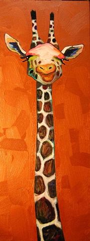 Eli Halpin Oil Paintings - Giraffe Bust in Copper