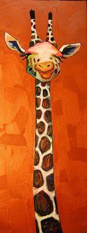 Giraffe Bust in Copper