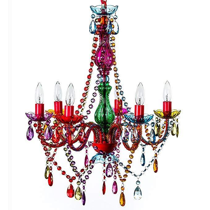The Original 6 Light Multi Color Gypsy Chandelier H26