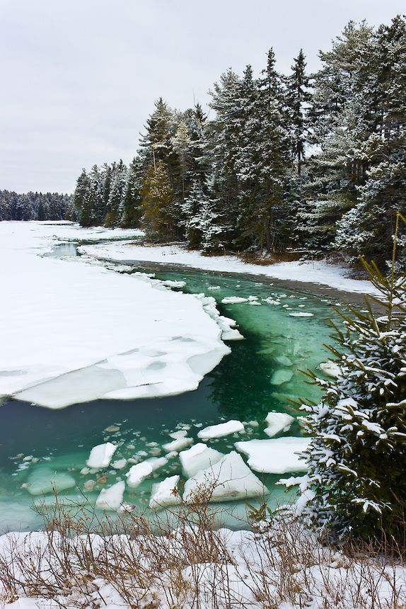 Tidal Ice Flows clog Strawberry Creek during the winter, Harpswell, Maine  Benjamin M. Williamson