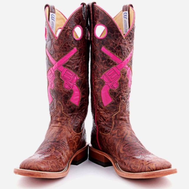 Light brown/pink-pistol cowgirl boots. I LOVE these so much!!!! I really need a pair!!! ♡