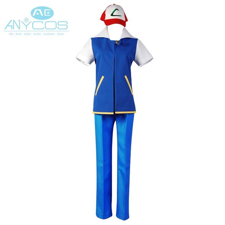 >> Click to Buy << Pokemon Ash Ketchum Cosplay Costume Full Set Short Sleeve Shirt Pants #Affiliate
