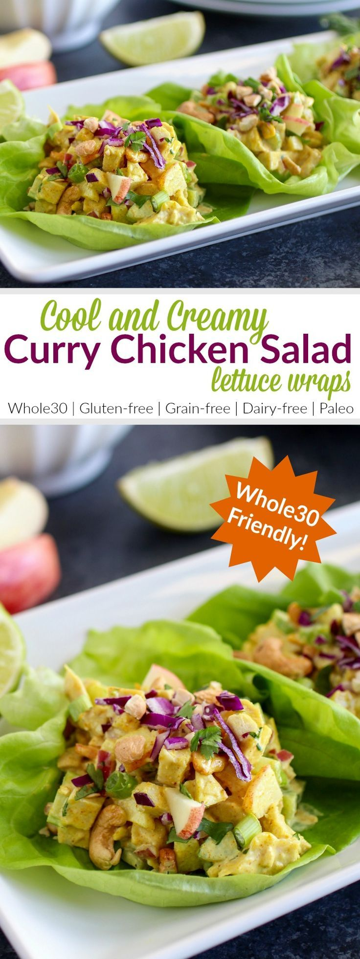 Cool and creamy chicken salad gets a little exotic with the addition of antioxidant-rich curry powder, crisp vegetables and crunchy cashews. | Whole30 | Paleo | Gluten-free | Grain-free | Dairy-free | http://therealfoodrds.com/curry-chicken-salad/