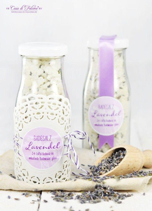 Badesalz mit Lavendel {Rezept} & Verpackungsideen