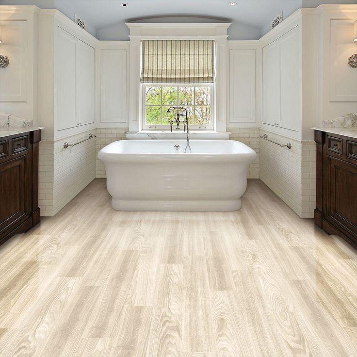 trafficmaster allure ultra 7 5 in x 47 6 in aspen oak white resilient vinyl plank flooring 20. Black Bedroom Furniture Sets. Home Design Ideas